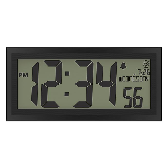 La Crosse Jumbo Atomic Digital Wall Clock View A Larger Version Of This Image