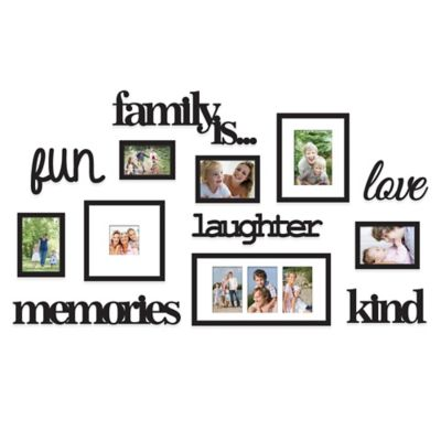 Wallverbs 13 Piece Family Is Photo Frame Set In Satin Black Bed