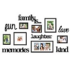 Wallverbs™ 13-Piece  Family Is  Photo Frame Set in Satin Black