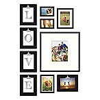 Wallverbs™ 10-Piece  LOVE  or  HOME  Clipped Letter Frame Set in Satin Black