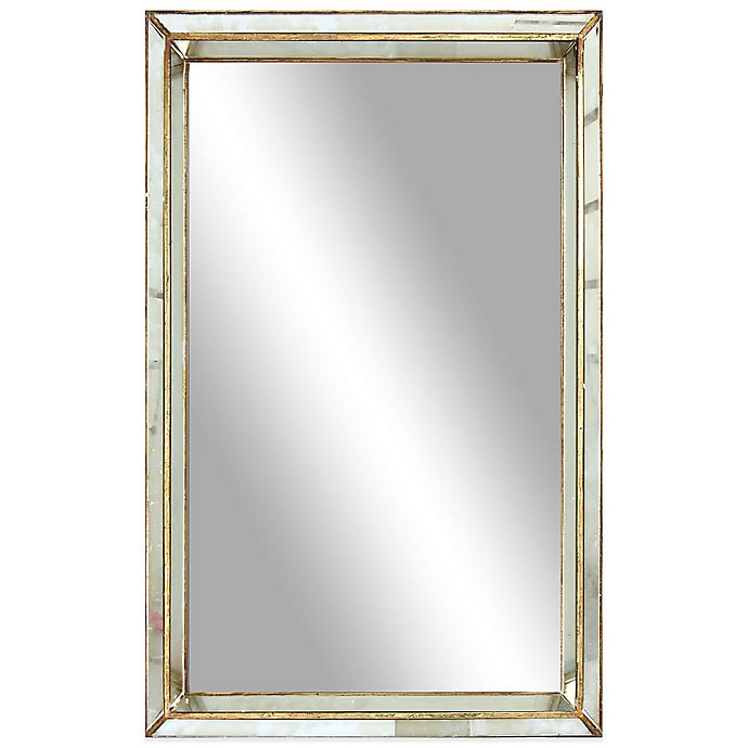 Alternate image 1 for 20-Inch x 30-Inch Franklin Rectangular Large Mirror in Antiqued Gold