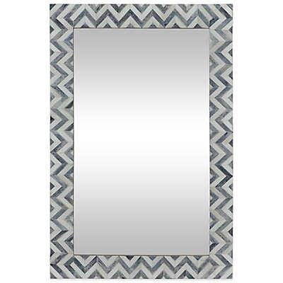 Ren-Wil 24-Inch x 36-Inch Abscissa Mirror in Grey/Ivory