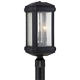 Quoizel® Trumbull Post-Mount Outdoor Lantern in Mystic Black