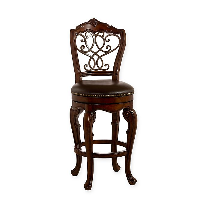 Hillsdale Burrell Wood Swivel Stool In Cherry Bed Bath