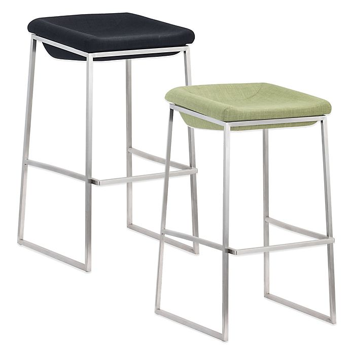 Buy Zuo 174 Lids Tall Barstool In Green Set Of 2 From Bed
