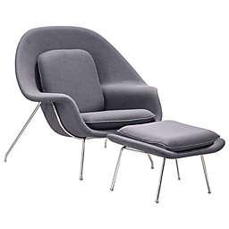 Zuo® Nursery Occasional Chair & Ottoman