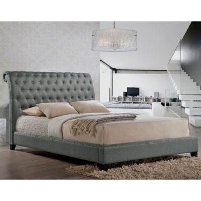 tufted headboard platform bed gray baxton studio jazmin tufted modern platform bed with headboard bath beyond