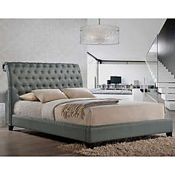 Baxton Studio Jazmin Tufted Modern Platform Bed with Headboard