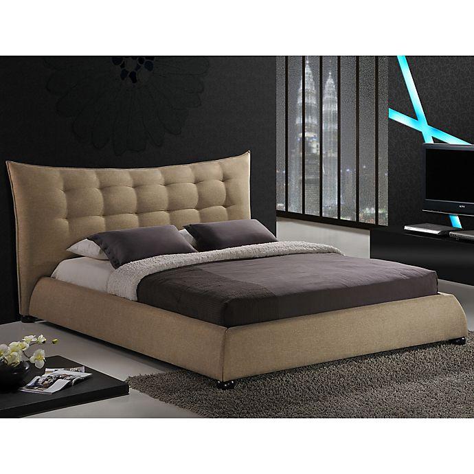 Alternate image 1 for Baxton Studio Marguerite Linen Platform Bed with Headboard