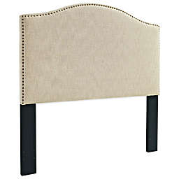 Pulaski Upholstered Headboard with Nailhead Trim in Off White