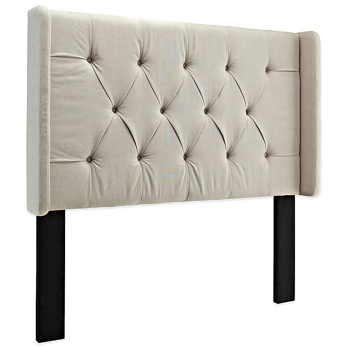 Alternate image 1 for Pulaski Tufted Upholstered Headboard with Wings in Tan