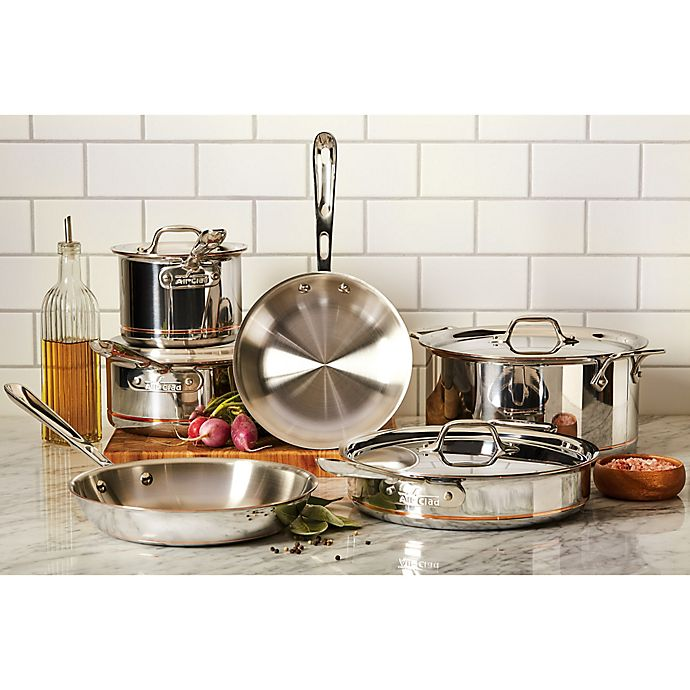 Alternate image 1 for All-Clad Copper Core® 10-Piece Cookware Set