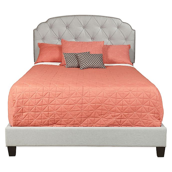 Alternate image 1 for Pulaski Trespass Marmor Tufted Upholstered Queen All-in-One Bed in Grey