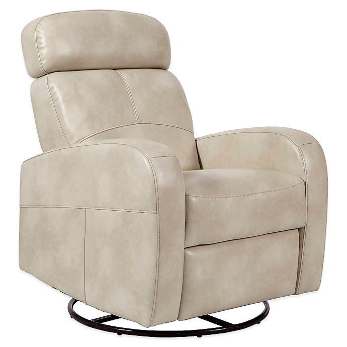 Pulaski Laurel Swivel Glider Recliner Chair In Cream Bed