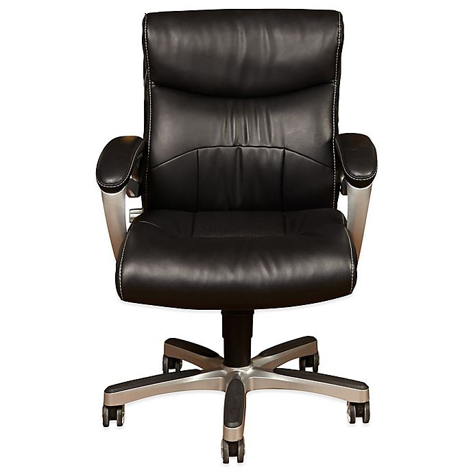 cheap for discount 13012 48fcf Sealy® Posturepedic Fixed Arm Office Chair in Black | Bed ...