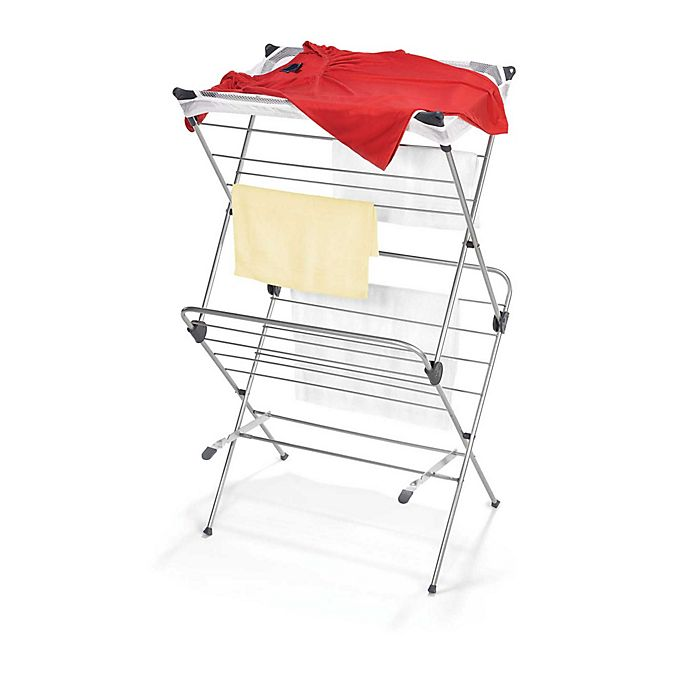 Alternate image 1 for Two-Tier Clothes Drying Rack with Mesh Cover