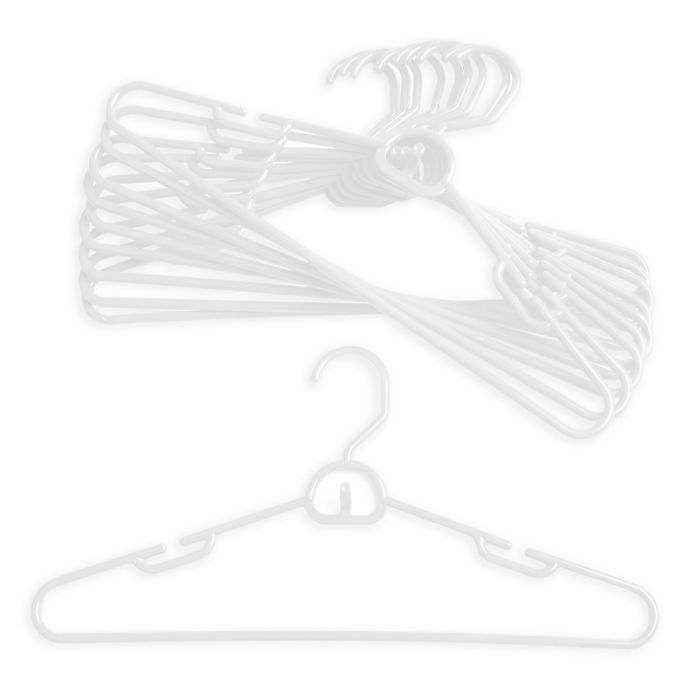 Alternate image 1 for Merrick 72-Count Attachable Hangers in White