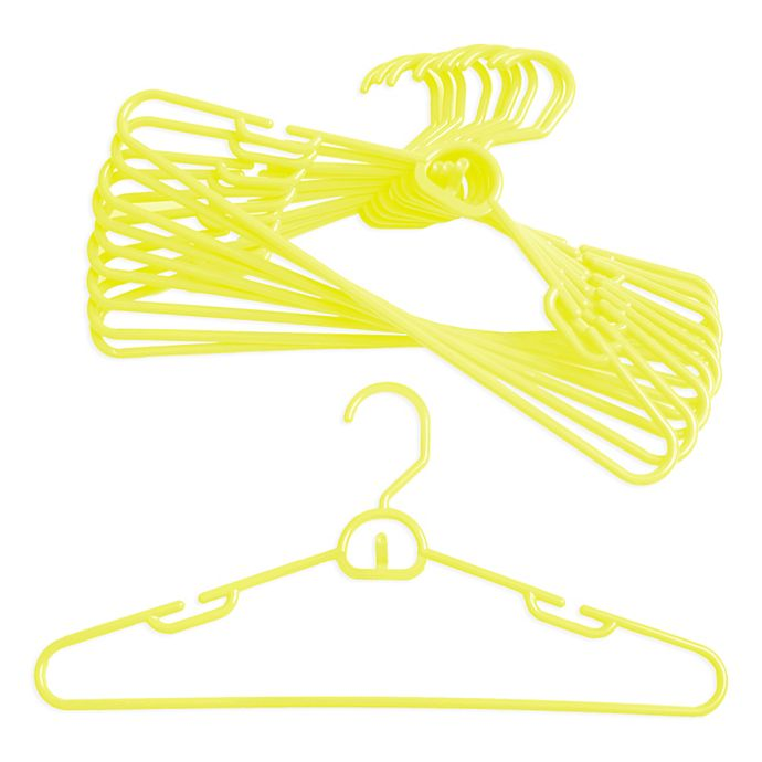 Alternate image 1 for Merrick 72-Count Attachable Hangers in Yellow