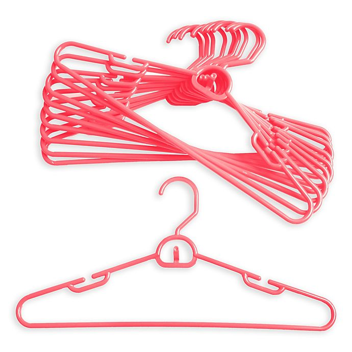 Alternate image 1 for Merrick 72-Count Attachable Hangers in Light Pink
