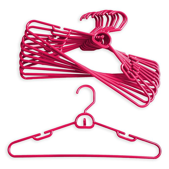 Alternate image 1 for Merrick 72-Count Attachable Hangers in Pink