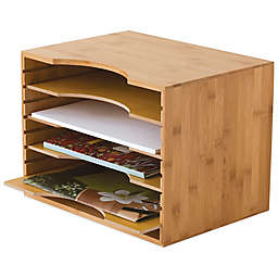 Lipper Bamboo File Organizer with 4-Dividers