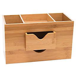 Lipper 3-Tier Bamboo Desk Organizer in Natural