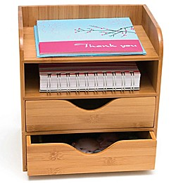 Lipper 4-Tier Bamboo Desk Organizer in Natural