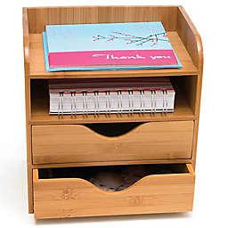 Lipper 4-Tier Bamboo Desk Organizer in Natural