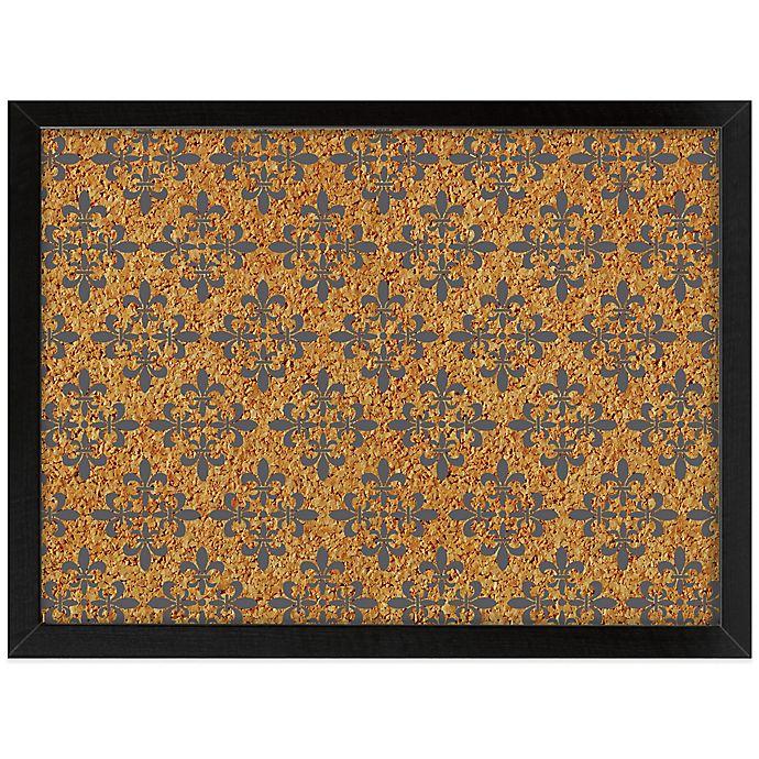 Alternate image 1 for WallPops!® Veranda Framed Printed Cork Board in Black