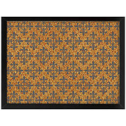 WallPops!® Veranda Framed Printed Cork Board in Black