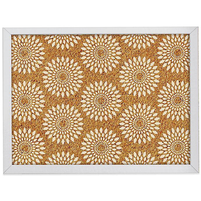 Alternate image 1 for WallPops!® Catalina Framed Printed Cork Board in White