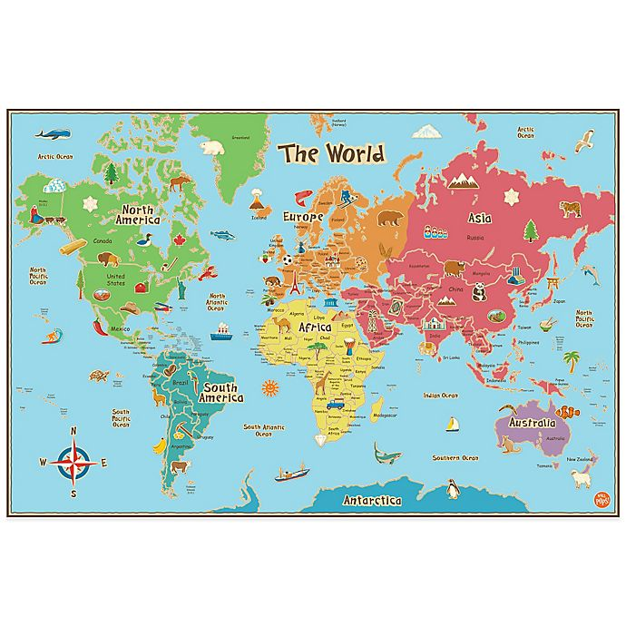 World Map Wall Decal Kids.Wallpops Kids Dry Erase World Map Wall Decal Bed Bath And