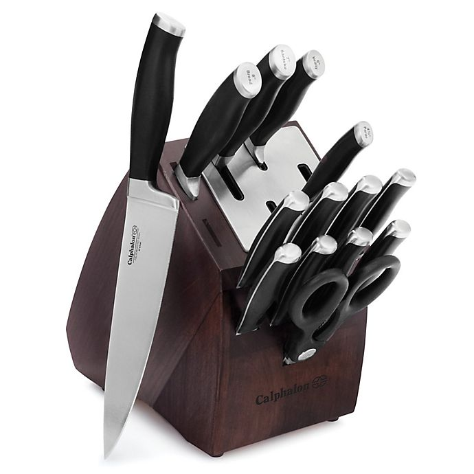 Alternate image 1 for Calphalon® Contemporary Self-Sharpening 15-Piece Cutlery Set with SharpIN™ Technology