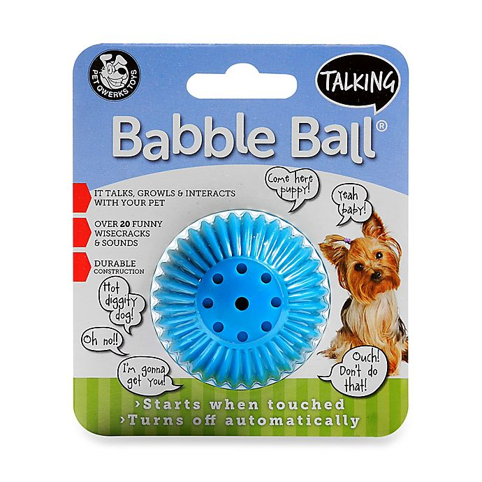 Alternate image 1 for Talking Babble Ball Small Dog Toy in Blue
