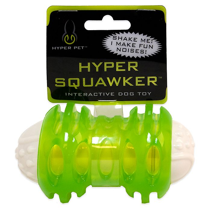 Alternate image 1 for Hyper Pet™ 4-3/4 Inch Squawker Bone Dog Toy in Green/White