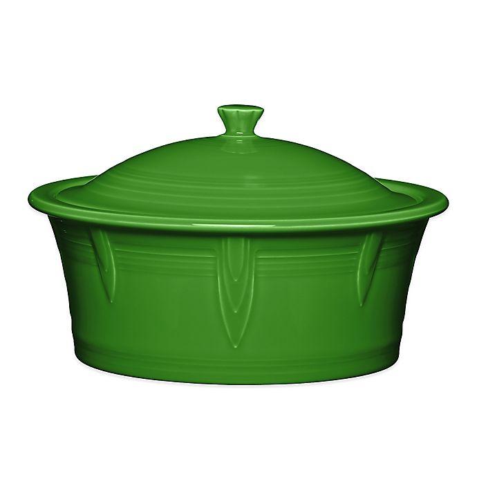 Alternate image 1 for Fiesta® 90 oz. Covered Casserole Dish in Shamrock