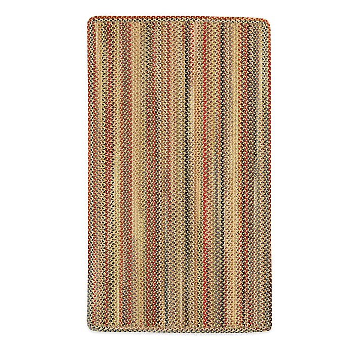 Alternate image 1 for Capel Portland Braided 1'8 x 2'6 Oval Rug in Gold