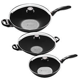 Swiss Diamond® Induction Nonstick Wok with Lid