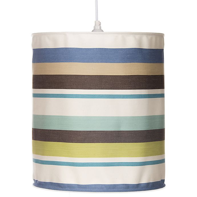 Alternate image 1 for Glenna Jean Liam Hanging Stripe Drum Shade Kit in Multi