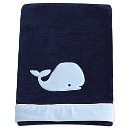 Nautica Kids® Mix & Match Velboa Whale Blanket in Navy