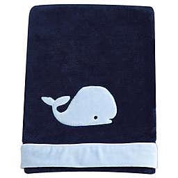 Nautica Kids® Mix & Match Velboa Whale Blanket in Navy