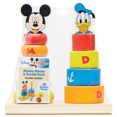 Disney 174 Mickey Mouse And Donald Duck Wooden Stacker Bed