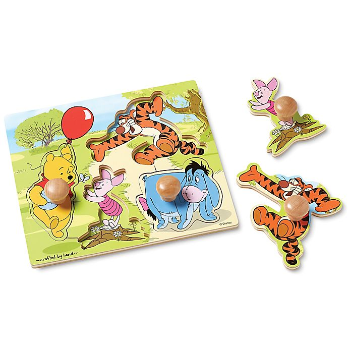 Alternate image 1 for Disney® Winnie the Pooh Wooden Jumbo Knob Puzzle