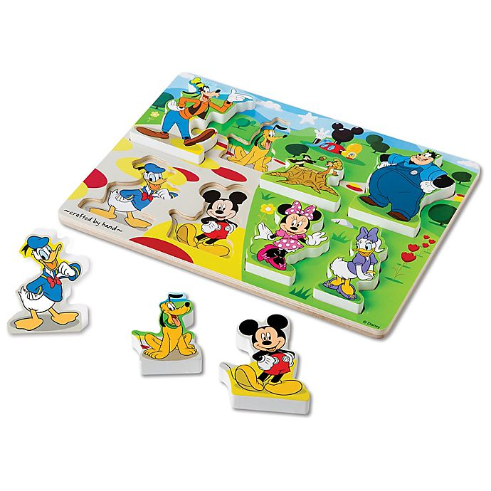 Alternate image 1 for Disney® Mickey Mouse Wooden Chunky Puzzle