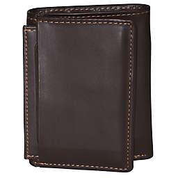Dopp Leather Regatta ID Three-Fold Wallet in Mahogany