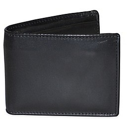 Dopp Leather Regatta Zip-Around Convertible Billfold in Black