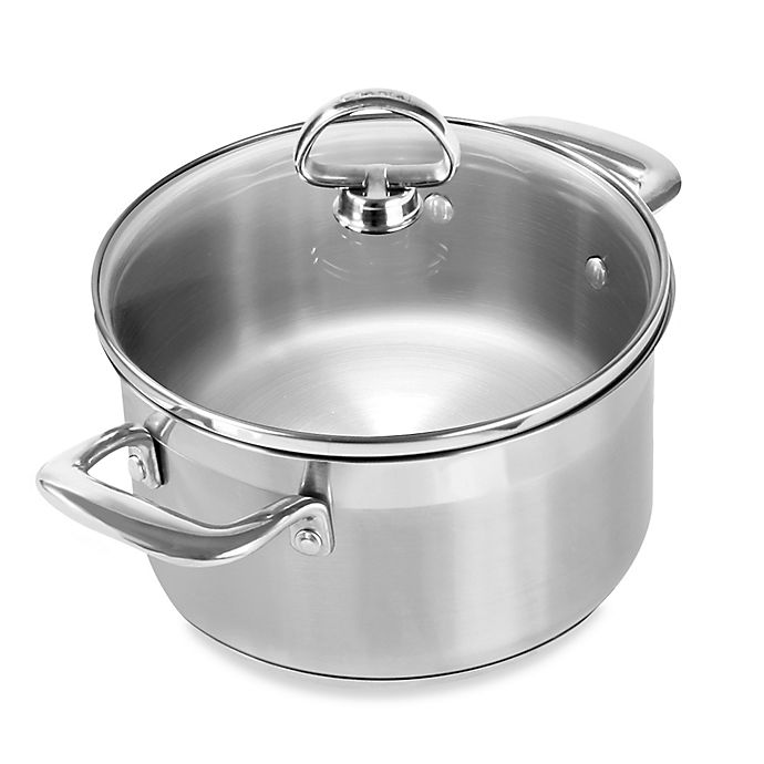 Alternate image 1 for Chantal® Induction 21 Steel™ 2 qt. Covered Soup Pot
