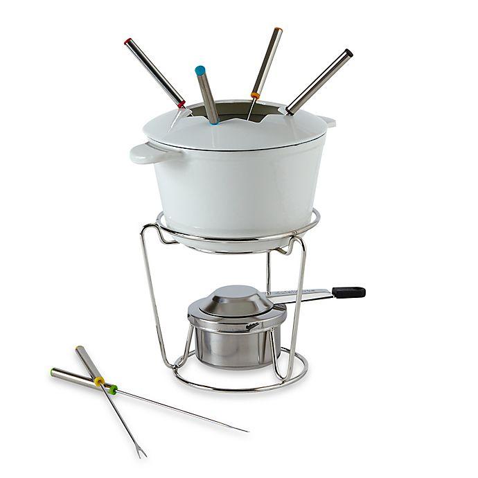 Alternate image 1 for Cuisinart® 13-Piece Cast Iron Fondue Set in White