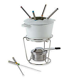 Cuisinart® 13-Piece Cast Iron Fondue Set in White