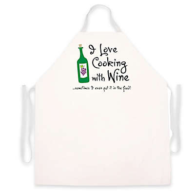 """L.A. Imprints """"Cooking with Wine"""" Apron"""